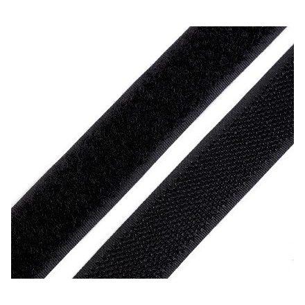 Tépőzár 2 cm széles, fekete színű.