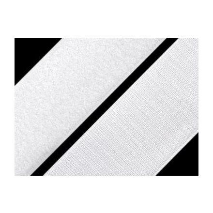 Tépőzár szalag 3 cm széles, fehér színű
