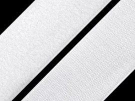 Öntapados tépőzár szalag horgos része, 2 cm széles, fehér színű