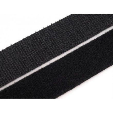 Tépőzár, 3 cm széles, fekete színű