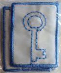 Felvarrható ovis jel - ovis címke - kulcs