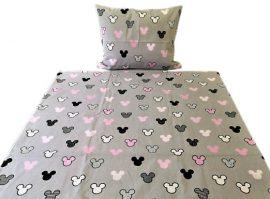 Rózsaszín zsiráf mintás 2 részes ágynemű huzat 100x135 cm