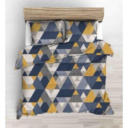 3 részes ágynemű huzat szett - szürke-kék-zöld csíkos - kockás.