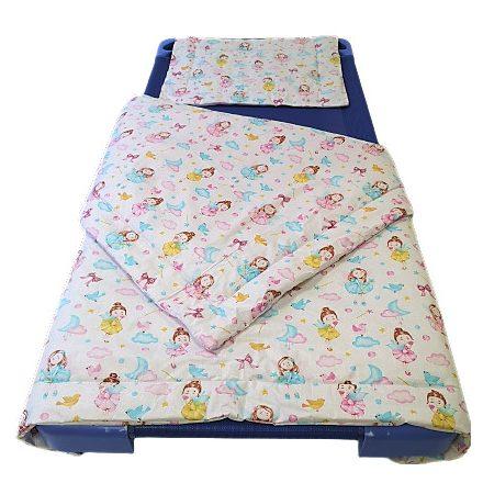 2 részes ovis ágynemű szett 90x130 cm kék csillagos