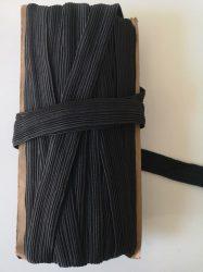 Gumiszalag 20 mm széles fekete színben