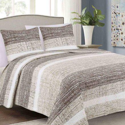 Csak ágytakaró barna - bézs csíkos mintával 220x240 cm