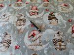 Téli - karácsonyi mintás 160 cm széles pamutvászon textil.