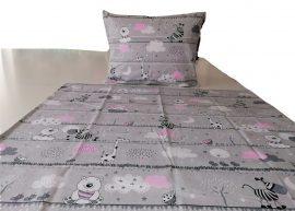 Rózsaszín kislány mintás 90x130 cm 100% pamut ágynemű huzat
