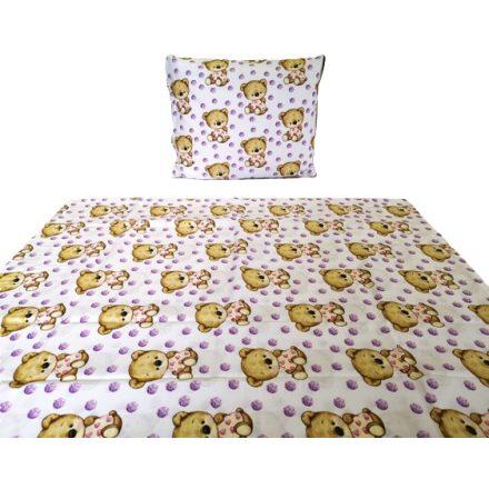 2 részes ágynemű huzat szett klasszikus macis mintás 90x130 cm
