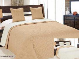 Kétoldalas ágytakaró szett  220x240 cm - bézs - ekrü