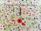 Flamingó mintás pamutvászon.