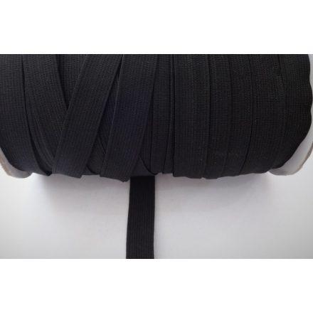 Gumiszalag - gumipertli 15 mm széles fekete színben