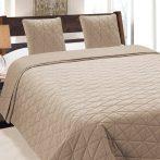 Bézs dombornyomott ágytakaró 220x240 cm + 2 párnahuzat