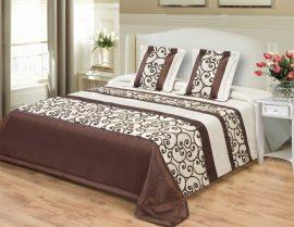 Törtfehér - barna mintás elegáns ágytakaró