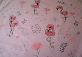 Rózsaszín csillagos pamut textil 160 cm széles