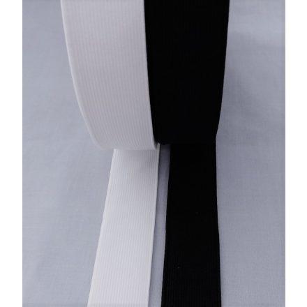 Gumiszalag - gumipertli 20 mm széles fekete és fehér színben
