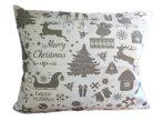 Szürke - mentazöld bárányos pamut textil - méteráru 160 cm széles