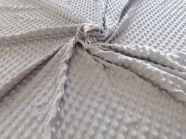 Ezüst szürke színű minky - méterárú 165 cm széles 350gr/m2