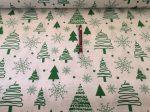 160 cm széles, kék - szürke csillag mintás pamutvászon