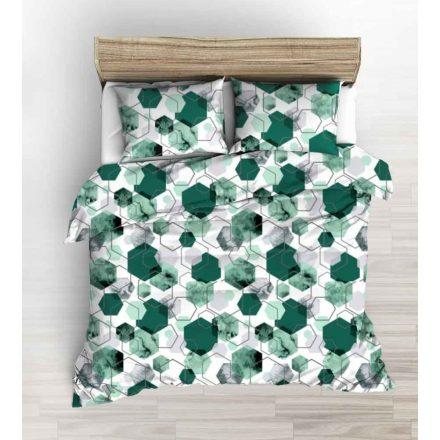 Szürke - kék modern mintás krepp ágynemű huzat szett 140x220 cm