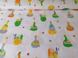Húsvéti mintás pamut méteráru - textil 160 cm széles