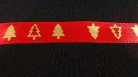 Piros - arany karácsonyi szalag.