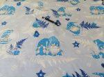 Rénszarvas mintás 100% pamutvászon textília 160 cm széles.