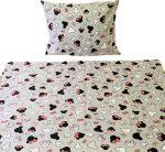 Fehér alapon rózsaszín unikornis mintájú ovis ágynemű huzat garnitúra