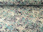 Virágos mintás fekete farmer textília