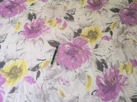 Rózsaszín kockás krepp vékony pamut textil