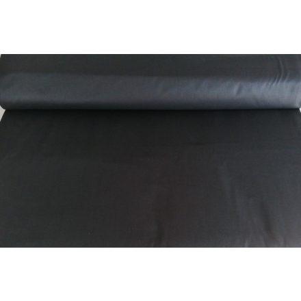 Fekete színű 100% pamutvászon 160 cm széles