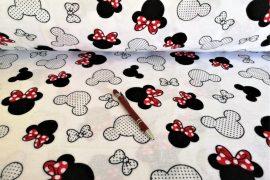 Szíves mintás flanel méteráru - textília