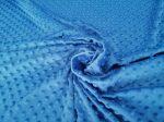 Kék hímzett fehér pamutvászon anyag