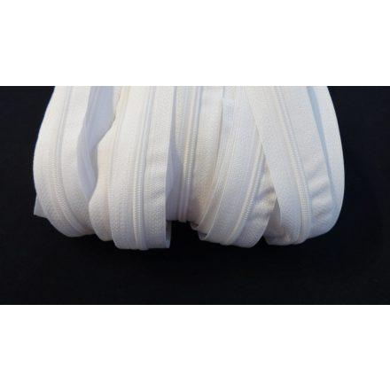 3 mm-es RT0 spirál méter cipzár-húzózár fehér színű.