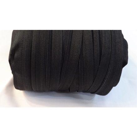 Fekete RT0 spirál méter cipzár - húzózár, 3 mm-es