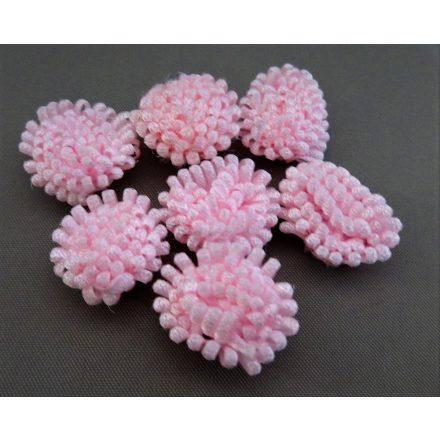 Rózsaszín apró szaténvirág dekoráció.