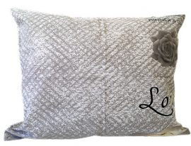 Zöld - fehér kockás dekor textil, virágmintával - 140cm széles.