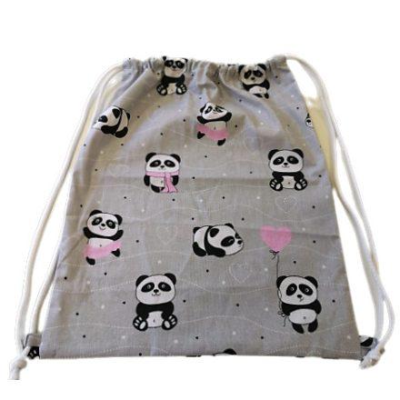 Ovis tornazsák - rózsaszín panda maci mintával