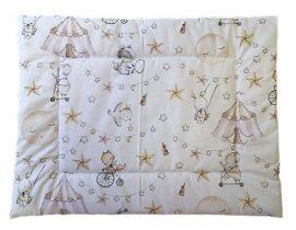 Lapos kispárna -  szürke alapon állatkert mintás - 40 cm x 50 cm
