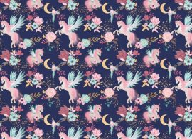 140cm széles muszlin textil, éjkék színben.