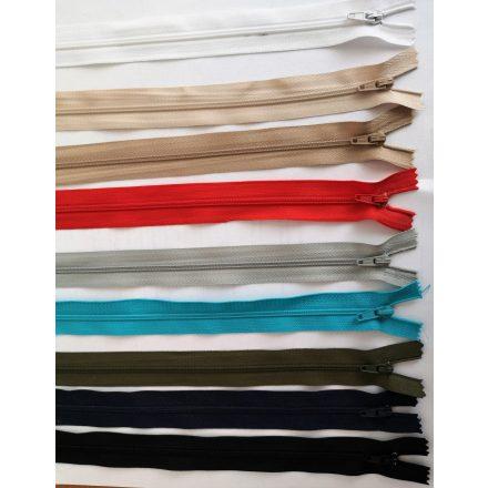 GT-10-es vastag fogú, bontható, műanyag cipzár, 100 cm, fekete és fehér színben.