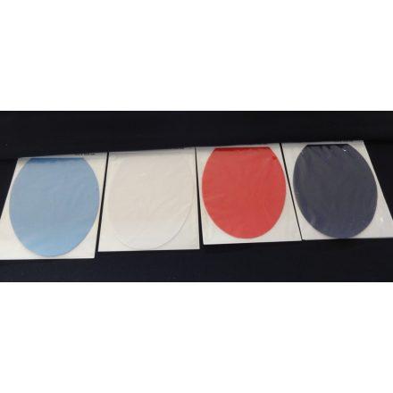 2db-os, vasalható ovális alakú folt - applikáció, többféle színben.