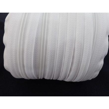 Fehér spirál méter cipzár-húzózár RT0, 5 mm-es