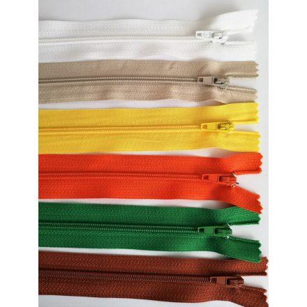 RT0, 12 cm hosszú, zárt, műanyag, spirál fogú cipzár - húzózár többféle színben.