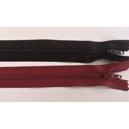 RT0, 14 cm hosszú, zárt, műanyag, spirál fogú cipzár - húzózár többféle színben