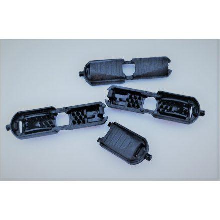 Zsinórvég pattintós, 3-5 mm-es zsinórhoz - sötétkék
