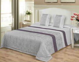 Szürke 3 részes ágytakaró szett 200x220 cm.