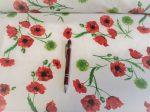 Barna virágos pamutvászon textília - méteráru.