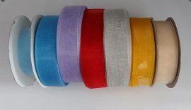 Organza szalag 19 mm széles, több színben.