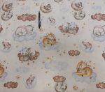 Vékony poliester textil barack színben 150 cm széles
